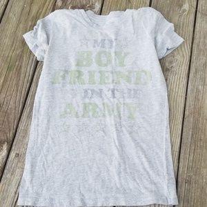 Heritage 1981 army boyfriend graphic T shirt